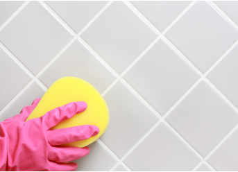 DIY grout cleaning